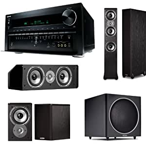 Onkyo TX-NR5010 9.2 Channel THX Certified Network Receiver With Polk Audio Speaker Package! Includes (1) Pair of Polk TSi400 FloorStanding Speakers, (1) Pair of Polk TSi100 BookShelf Speakers, (1) Polk CS10 Center Channel & (1) Polk PSW125 Powered Subwoofer