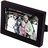 """Adeco[PF0053-3] Black Wood Picture Photo Frame for Wall Hanging or Table Desk Top, One Opening, 4x6"""""""