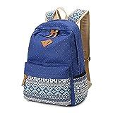 Abshoo Canvas Dot Backpack Cute Lightweight Teen Girls Backpacks School Shoulder Bags (Black)