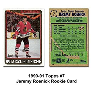 Topps 1990-91 Jeremy Roenick Rookie Card