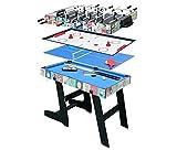 HLC� Mesa multijuegos 4 en 1 Con patas plegables incluye mesa de Billar/Mesa de ping pong/mesa de Air Hockey/Futbol�n,109 x 60,5 x 82cm