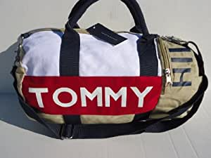 Tommy Hilfiger Mini Duffle Taupe-Blue-Red-White