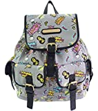 Girly Handbags New Canvas Rucksack Backpack Comics Print School Fabric College Anna Smith