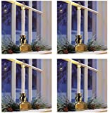 """Living Home 12"""" Battery-Operated Cordless Window LED Candle, 4-Pk - White"""