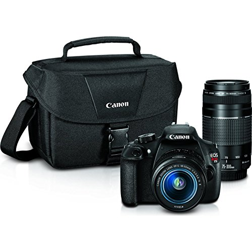 Canon EOS Rebel T5 Digital SLR Camera with EF-S 18-55mm IS II + EF 75-300mm f/4-5.6 III Bundle