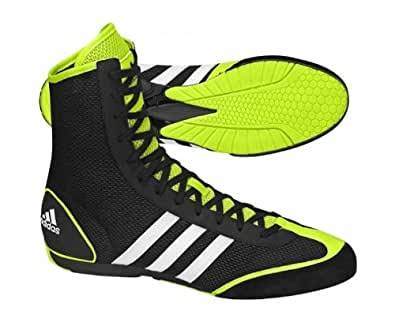 ADIDAS Box Rival Men's Boxing Boots, Black/Yellow/White, US11