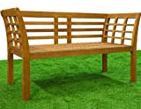 Garden bench tropical hardwood patio wooden seater wooden outdoor furniture benches