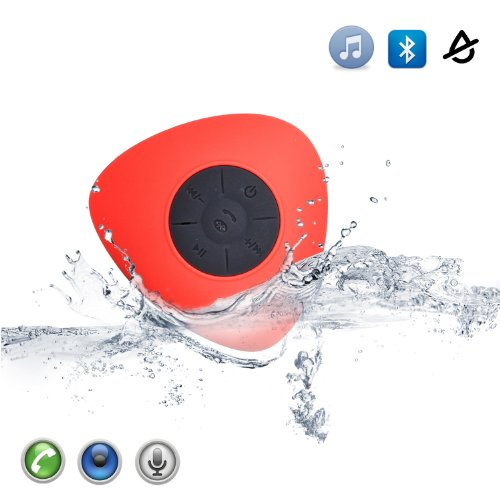 Masione™ Waterproof Bluetooth Wireless Speakers+Handsfree Speakerphone For Calls With Suction Cup For Showers, Bathroom, Pool, Boat, Car, Beach, Outdoor Etc. Capability With All Bluetooth Devices Up To 6 Hours Playtime- Mini Ultra Portable Music Stereo Re