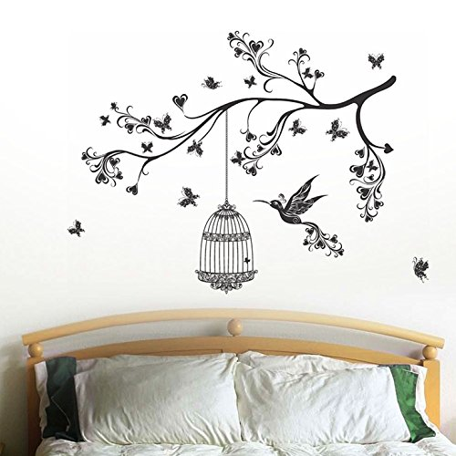 Decals Design 'Headboard Design with Art' Wall Sticker (PVC Vinyl, 70 cm x 50 cm)