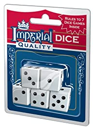 Imperial Dice, White, 5-Piece