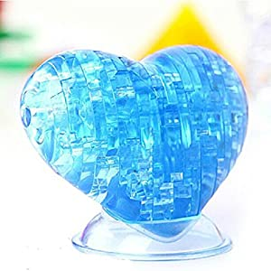 Blue Educational Toys 3D Crystal Puzzle Heart Blocks Toys Meawmeaw Store