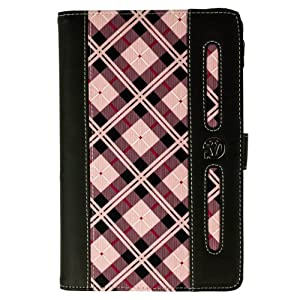 (Pink Plaid) VG Dauphine Portfolio Case Cover for Dell Venue 7 Tablet at Electronic-Readers.com