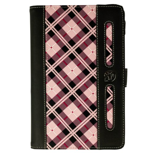 """(Pink Plaid) VG Dauphine Portfolio Case Cover for Ematic EGS004 Genesis Prime / Ematic EGM002 / Ematic EGP007 Pro Series / Ematic eGlide Prism / Ematic eGlide Pro 3 7"""" Tablets at Electronic-Readers.com"""