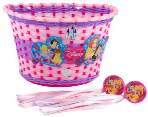 Pacific Cycle Princess Bike Basket and Streamers (Pink)