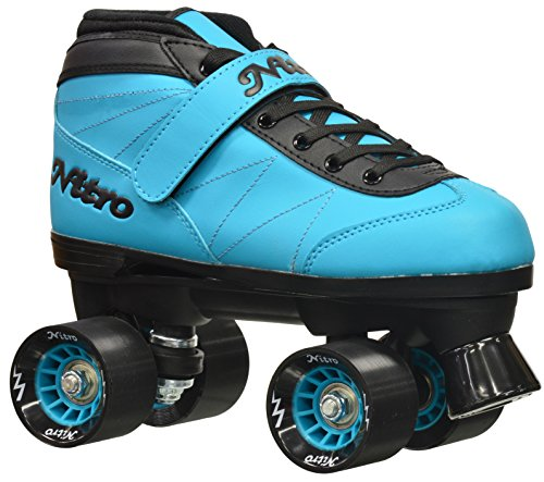 Epic Skates 2016 Epic Nitro Turbo 6 Indoor/Outdoor Quad Speed Roller Skates, Blue