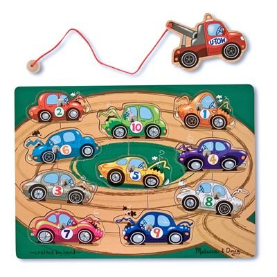 Melissa & Doug Deluxe 10-Piece Magnetic Towing Game - 1