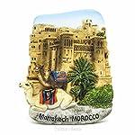 Ksar-EL von AIT Ben Haddou, Marrakesch, Marokko MAR, Afrika-3D World Travel Harz handgefertigt Kühlschrank Magnet-Spielzeug, Souvenir, Memento, Geschenk, Sammlerstück, Dekor