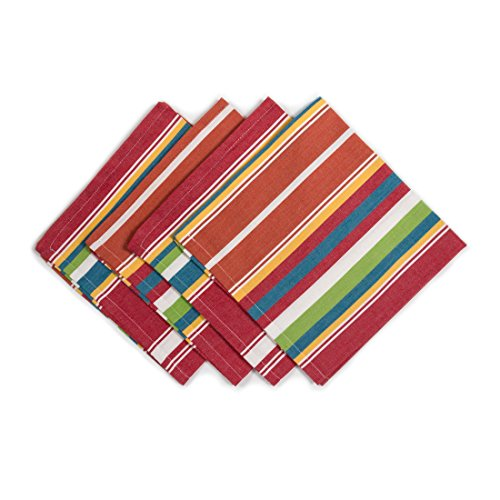 linentablecloth sunset striped cotton napkins 20 inch 4