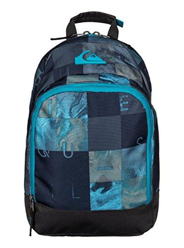 Quiksilver-Zaino chompine ragazzo, Ragazzo, Rucksack Chompine, Bp Checks Hawaiian Ocean, 33 x 25 x 11 cm, 0.1 Liter