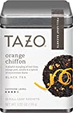 Tazo Orange Chiffon Black Tea With Caffeine, 1 Pack with 15 Full-Leaf Sachets