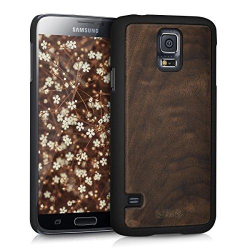 kalibri-Schutzhlle-aus-Holz-fr-Samsung-Galaxy-S5-S5-Neo-S5-Duos-Premium-Echtholz-Case-Cover-mit-Kunststoff-in-Dunkelbraun