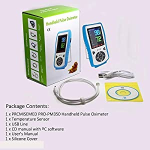 PRCMISEMED Plus oximeter Handheld Pulse Oximeter with Veterinary Sensor (Standard) (30-Day Guarantee), Just for Veterinary use
