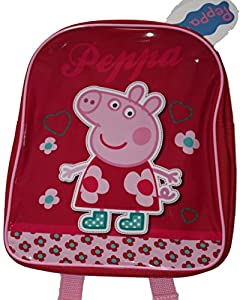 New Red Peppa Pig Toddlers Kids Backpack Lunch Bag Preschool Nursery School
