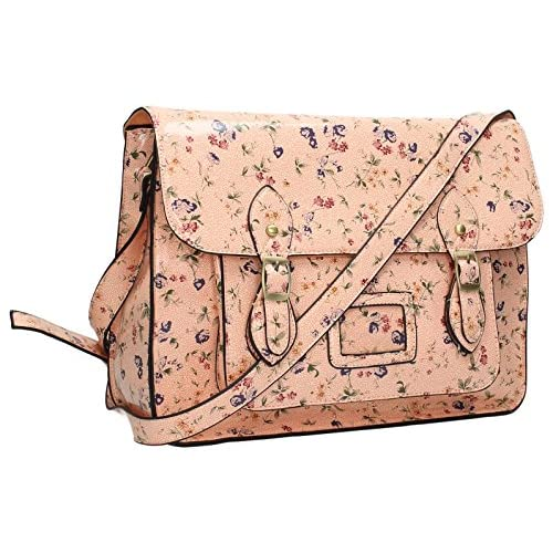 Toby Floral Large Satchel Bag Perfect for School   College   Uni Womens Satchel Handbag - SWANKYSWANS