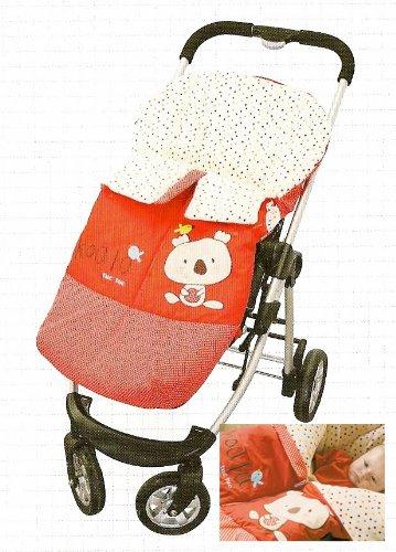 Tuc Tuc Red Stroller's Bunting Bag, Universal Footmuff Snugle Bag. Koala Collection.