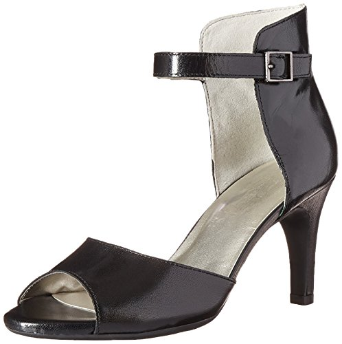 Aerosoles Women's Flamboyant Dress Sandal, Black Leather, 6.5 M US