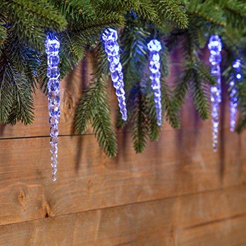 Catena 8 m 40 led blu con decorazione ghiaccioli cavo - Luci decorative ...