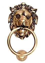 KT Hardware Solutions Antique Lion Door Knocker (Brass)