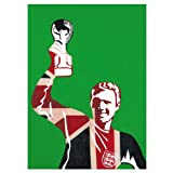 Bobby Moore Vintage Icons birthday card for football fans - hand finished with glitter