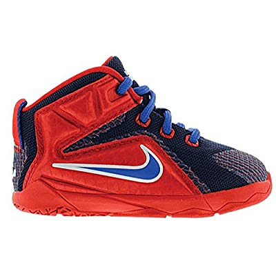 "Nike Lebron VII ""Supes"" Toddler Preschool Little Kid Boys Shoe University Red/Midnight Navy/Lyon Blue/Game Royal"