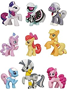 My Little Pony Friendship Is Magic Exclusive Set of 9 Figures with Rarity