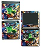Avengers Captain America Thor Hulk Iron Man Toy Video Game Vinyl Decal Skin Sticker Cover for Nintendo GBA SP Gameboy Advance System