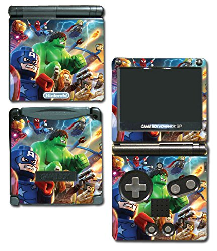 Avengers Captain America Thor Hulk Iron Man Toy Video Game Vinyl Decal Skin Sticker Cover for Nintendo GBA SP Gameboy Advance System (Gameboy Advance Captain America compare prices)