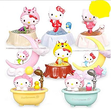 HBJ Bonjour figurine de décoration chat Kitty lune KT