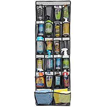 Door Shoe Rack from Unjumbly, Door Shoe Organizer with 22 Large See-Through Mesh Pockets, including 2 Jumbo Sized Pockets, Complete with 4 Metal Over the Door Hooks