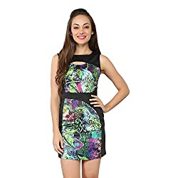 Tong Multicolor Dress Satin & cotton lycra for Women