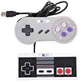 SNES PC Gamepad,SNES Retro USB Wired Controller Connector,[iNNEXT] [2 Pack]NES USB SFC Supper Classic Game Controller Joypad Gamestick Joystick For Windows PC Mac Notebook by iNNEXT [並行輸入品]