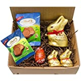 Lindt Chocolate Easter Treat Box - Bunnies, Lindt Lindor Egg, and Bunny Paws