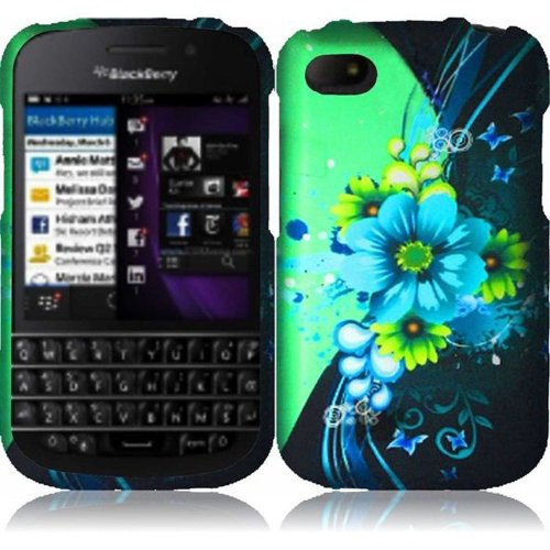 Cell Accessories For Less (Tm) For Blackberry Q10 Rubberized Design Cover Case - Sublime Flower - By Thetargetbuys *Free Shipping*