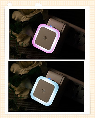 How Nice Led Night Light Electric Induction Plug Children/Baby Incandescent Lamp Night Bedside Lamp Christmas Colorful Lamp Round Favorites Compare Baby Night Light Kids Sensor Wall Small Night Light For Baby Night Christmas Gift Decorate Party (Square, W