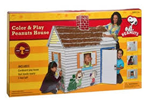 Charlie Brown Peanuts Eco Friendly Giant Cardboard Color And Play House front-319810