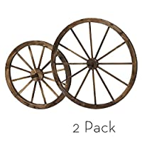 2PK Wooden Wagon Wheels (1pc 24