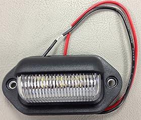 NEW LED LICENSE PLATE TAG LIGHT BLACK BOAT TRAILER RV TRUCK INTERIOR STEP LIGHT