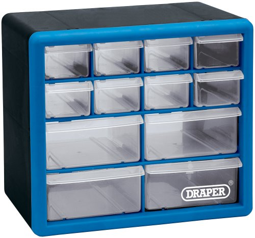 12014 12 Drawer Organiser 12014 Blue And Black 12014 By Draper