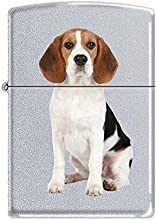Zippo Lighter Beagle Dog - Satin Chrome