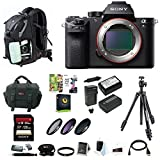 Sony Alpha a7SII Mirrorless Digital Camera (Body Only) w 128GB SD Card & Photo SLR Sling Backpack